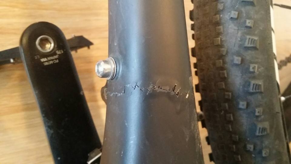 Broken Carbon Frame